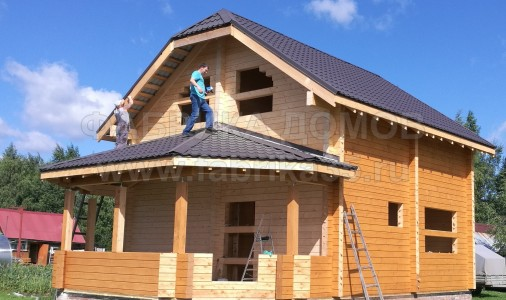 Строительство дома из профилированного бруса в п. Кадуй, Череповецкий район