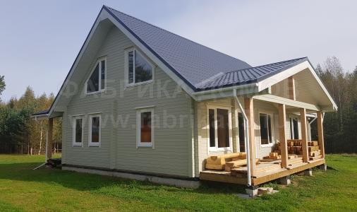 Строительство деревянного дома в д.Порослово, Устюженский район