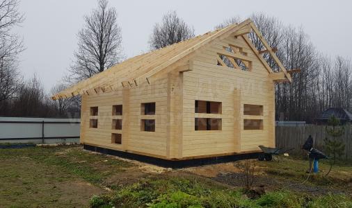 Строительство деревянной бани в д.Воронино, Череповецкий район