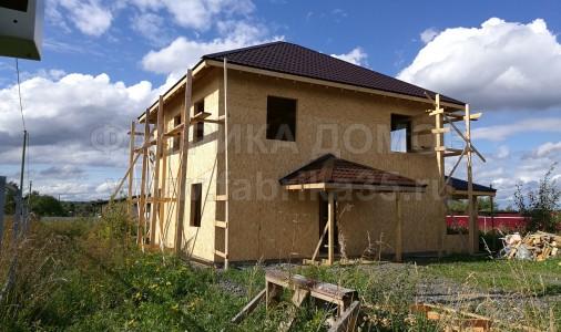 Строительство каркасного дома под крышу в д.Ирдоматка, Череповецкий район