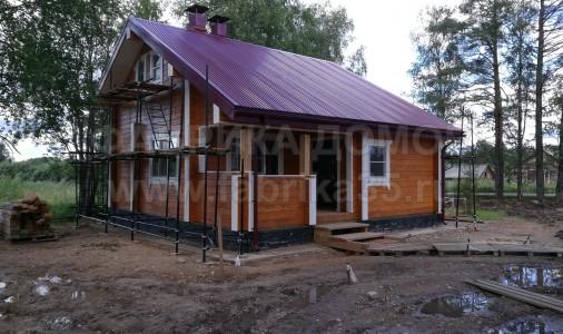 Строительство бани в д. Харовск, Вологодская область