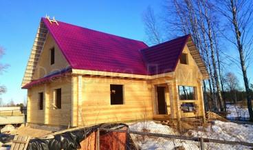 Строительство дома из сухого профилированного бруса в д. Верховье, Череповецкий район
