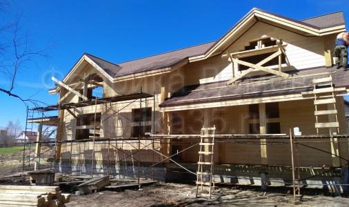 Строительство дома из клееного бруса в д.Ильинское, Череповецкий район