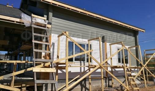Строительство дома из клееного бруса на Азатском озере, Белозерский район