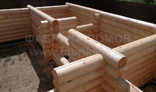 Строительство деревянной бани на р. Молога, Череповецкий район