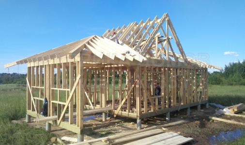 Строительство деревянного дома в д.Ирдоматка, Череповецкий район