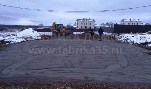 Устройство монолитного фундамента в д. Конечное, Череповецкий район