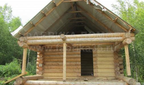 Строительство рубленной бани в д. Вичелово