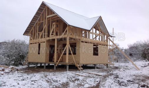 Строительство каркасного дома в г. Череповец (причалы)