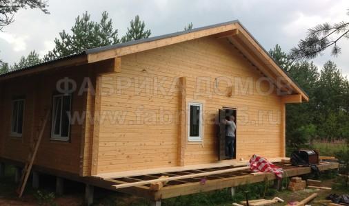 Строительство дома из сухого профилированного дома в д. Хотыль, Устюженский район
