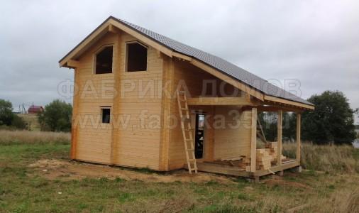 Строительство дома из сухого профилированного бруса в д. Пальцево, Белозерский район