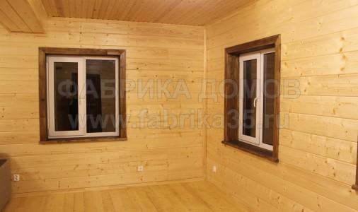 Дом из бруса естественной влажности в д. Петровское, Череповецкий район
