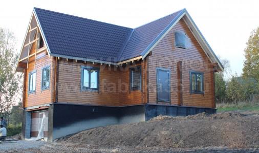 Строительство дома из сухого профилированного бруса в г. Череповец, ул. Волгучинская