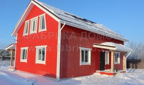 Дом из клееного профилированного бруса на р. Молога, Череповецкий район