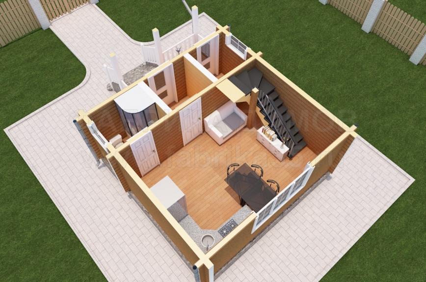 1 этаж - 3Д вид