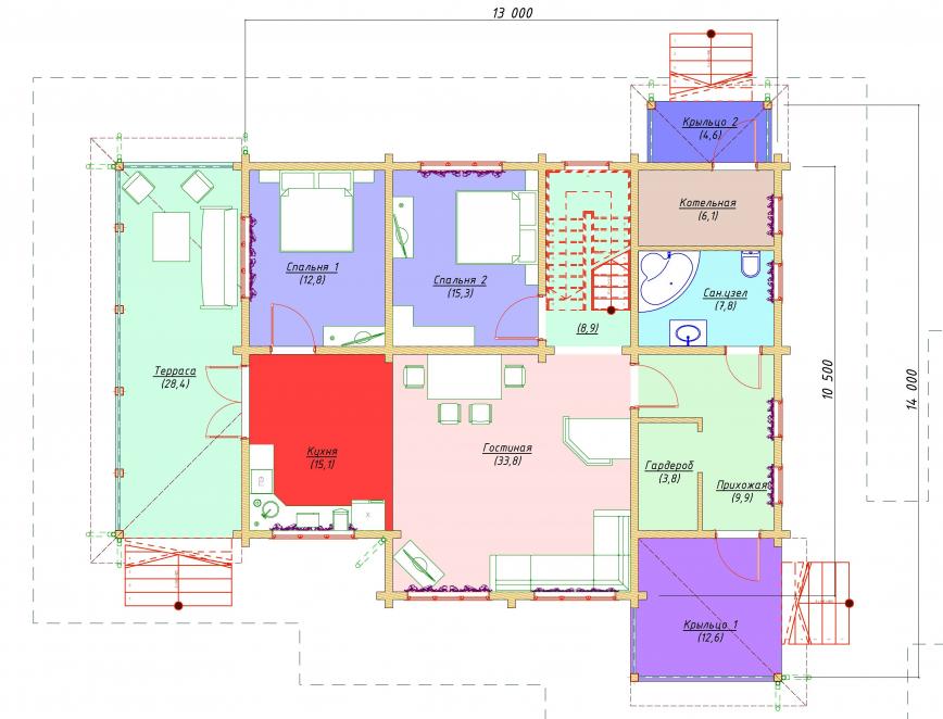 Первый этаж - план