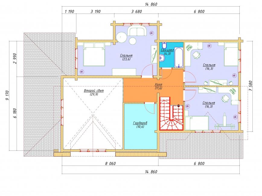 Второй этаж - план