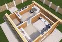 2 этаж - 3Д вид