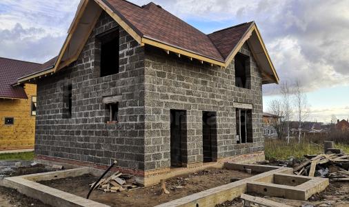 Строительство дома из арболита 8,5х8,5 м в д. Борисово, Череповецкий район