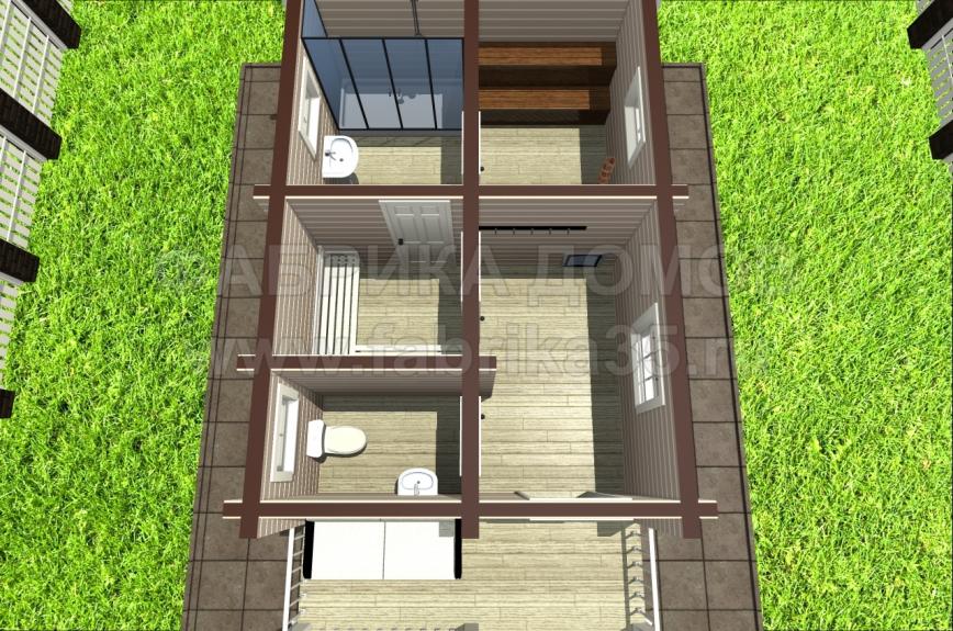 3D вид этажа