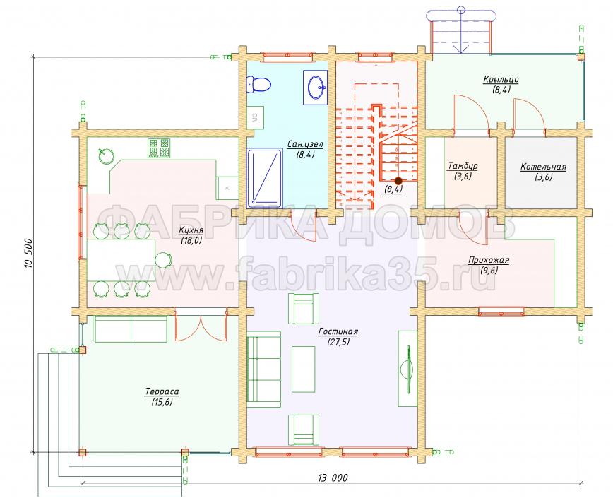 1 этаж - план