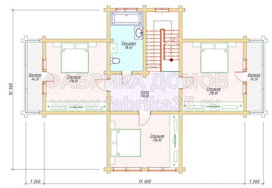 2 этаж - план